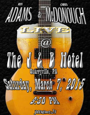 Adams & McDonough @ The J & B on March 7th